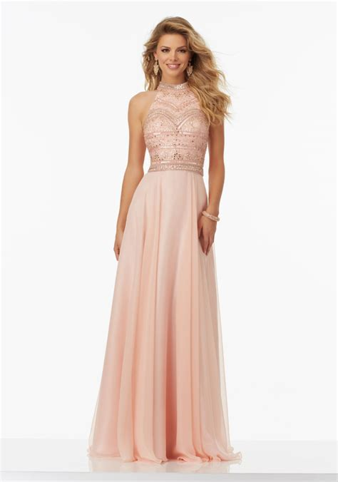 evening cocktail dresses chiffon prom dress with halter neckline style 99147