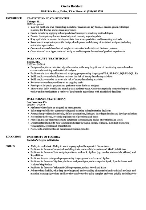 statistician resume web project manager cover letter