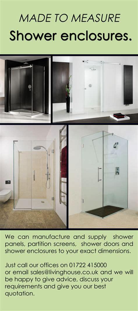 Made To Measure Shower Doors Bespoke Shower Enclosures Designer Bathrooms Uk Livinghouse