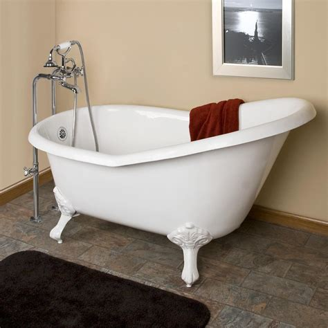 54 Quot Emma Cast Iron Slipper Clawfoot Tub Imperial Feet Bathroom With Shower And Tub