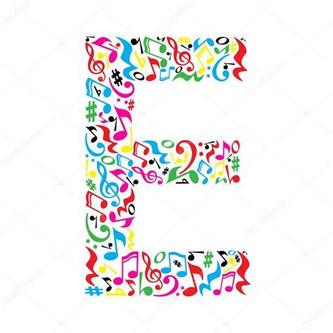 note lettere lettera fatta di note musicali vettoriali stock