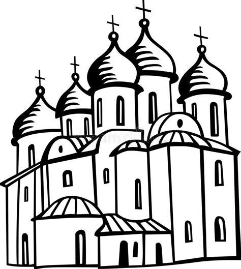 clipart chiesa chiesa ortodossa illustrazione vettoriale illustrazione