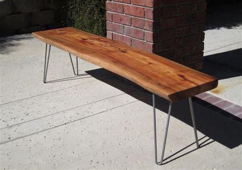 wood slab bench slab bench woodwaves