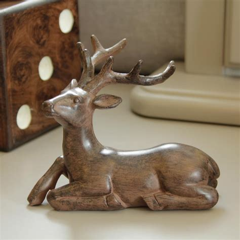 decorative ornaments for the home uk wooden stag ornament melody maison 174