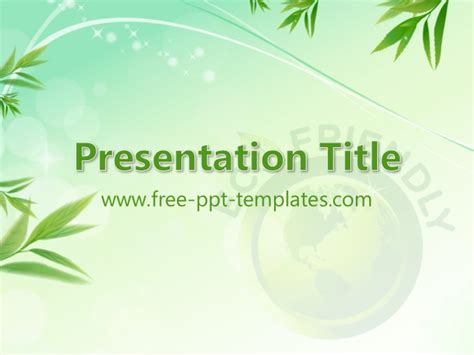 free ecology ppt themes eco friendly ppt template