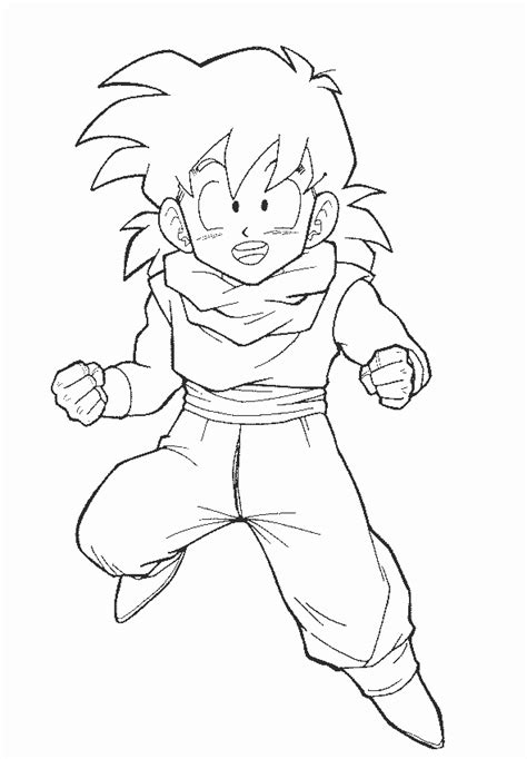 dragon ball z coloring pages gohan free coloring pages of trunks and goku gohan