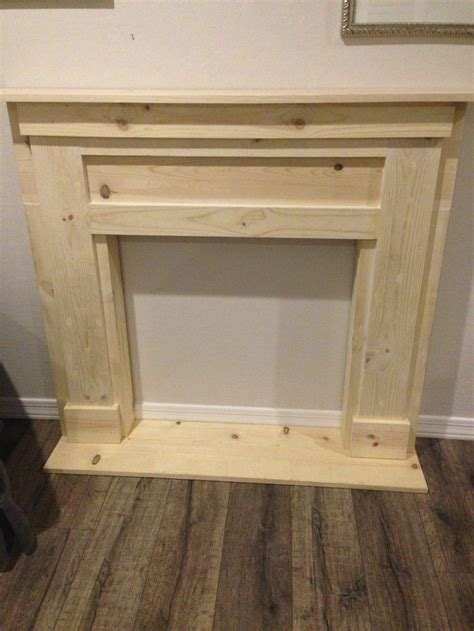 How To Build An Electric Fireplace Mantel by Diy Faux Fireplace Mantel Simple Lines The Simple And