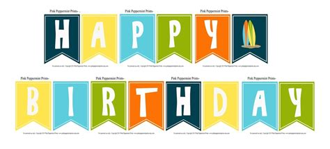 Happy Birthday Printable Banner Best Business Template Happy Birthday Banner Template