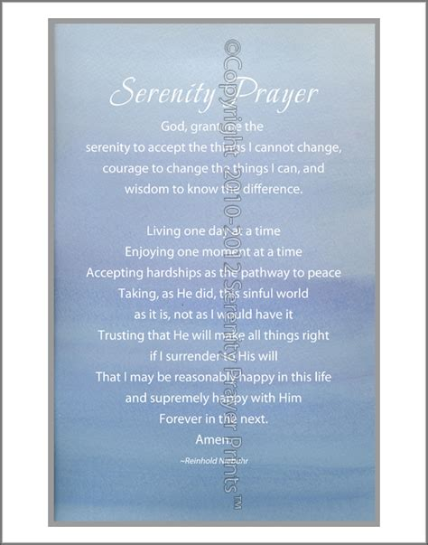 printable version serenity prayer printable version cake ideas and designs