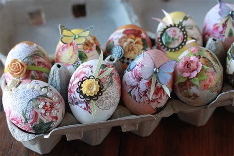 Decoupage Eggs - release decoupage easter eggs usher
