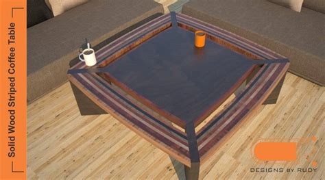 contemporary unique coffee tables striped solid wood design