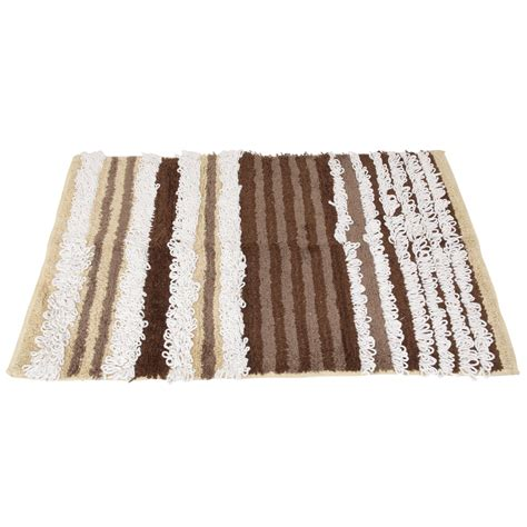 striped bath rugs 100 cotton striped bathroom bath mat rug ebay