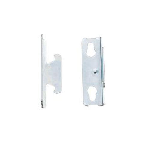 curtain bracket rod desyne double rod wall bracket in satin nickel set of