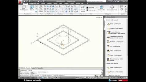 come creare un tavolo autocad 2010 creare un tavolo 3d
