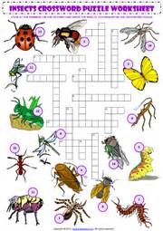 Crossword Answer Garden Pests Insects Esl Printable Worksheets And Exercises