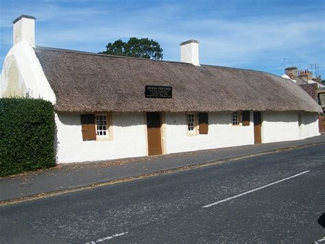 the burns cottage museum located in ayr scotland i