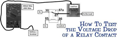 how to test dropping resistor how to test the voltage drop of a relay contact avi ondemand