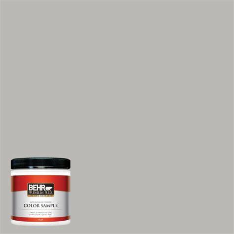 behr premium plus 8 oz ppu18 11 classic silver flat interior exterior paint sle pp10016