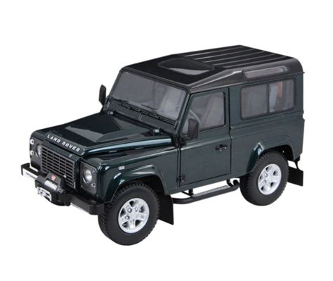 Land Rover Defender 90 Car Model In Scale 1 18 White Two Spare Tire 2 kyosho 1 18 land rover defender diecast model car 08901g