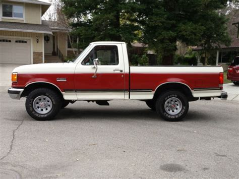 1989 ford f150 ford f 150 standard cab 1989 white burgundy for