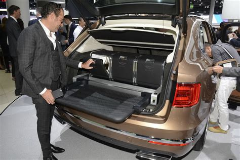 bentley bentayga trunk bentley s posh bentayga suv rolls out in frankfurt carscoops