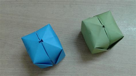Easy Origami Water Bomb - how to make a paper balloon water bomb easy origami