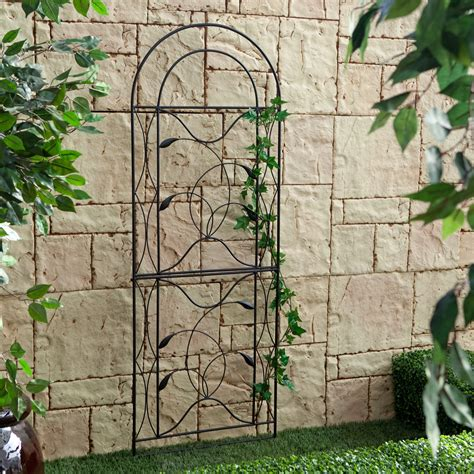 Trellis Steel coral coast willow creek metal trellis black trellises