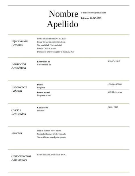 Resume For Un by Famoso Un Trabajo Resume Colecci 243 N Colecci 243 N De