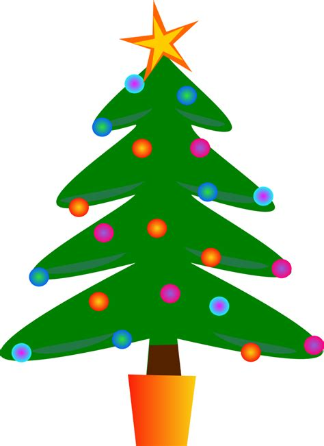 christmas tree cartoon ria9dedil public domain domain clip image tree id 13528485612142 publicdomainfiles