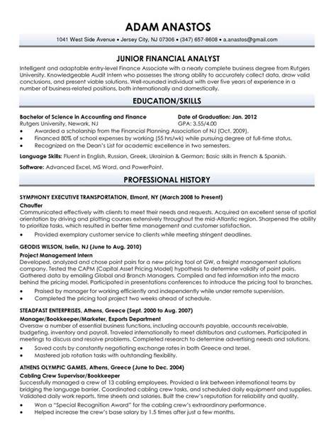 college graduate resume template resume paper ideas