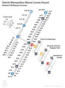 detroit airport map us airways dtw detroit metropolitan wayne county airport terminal map