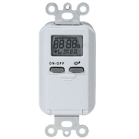 Light Timer Home Depot by Woods Flip Switch Battery Operated Digital Light Switch Timer White 59744 The Home Depot