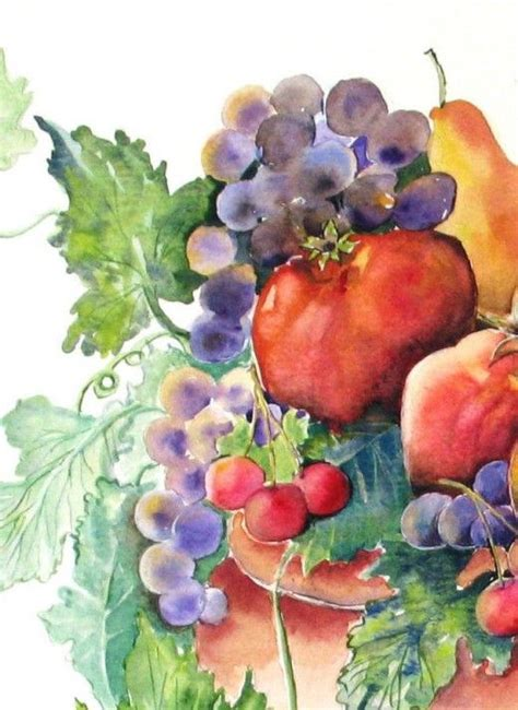 watercolor grapes tutorial 210 best images about watercolor fruits and veggies on