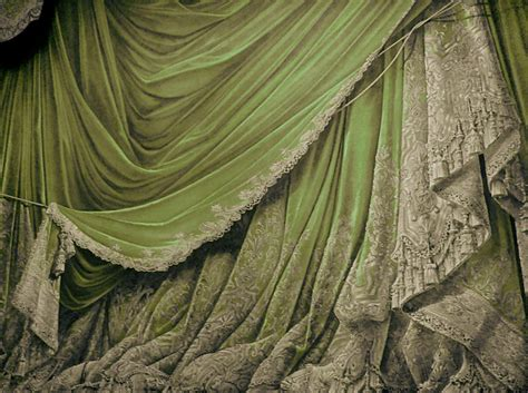 antique curtain backdrop vintage theater stage curtain green by eveyd on