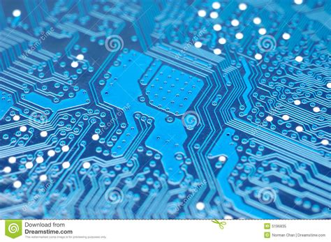 blue circuit board royalty  stock photo image