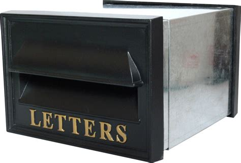 The Letter Box through the wall cavity letter box solid cast iron design