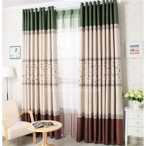 western style curtains prevailing sweet printing kids bedroom western style curtains