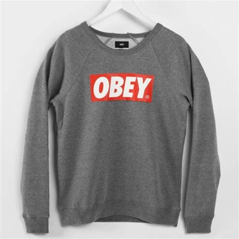 Sweater Obey Sweater Grey Obey Wheretoget