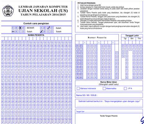 format daftar hadir try out download lembar jawaban komputer ljk sekolah format