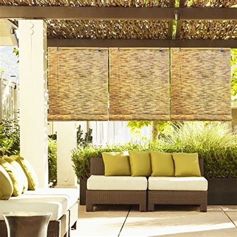 bamboo reed curtains radiance 0360366 natural reed woven wood bamboo roll up