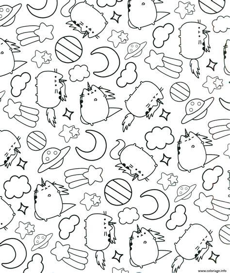 dessin  imprimer kawaii chat dessin de manga avec