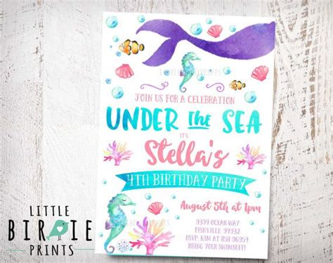 mermaid invitation template related keywords suggestions for mermaid invitations