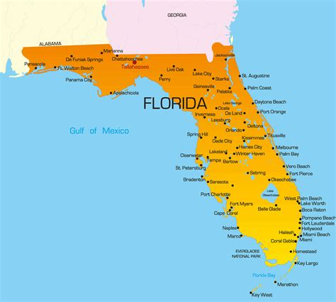 map of florida earth florida us map guide of the world