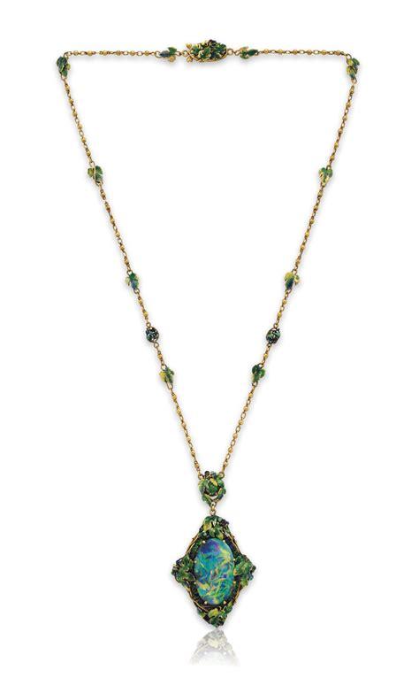 a black opal and multi gem pendant necklace by louis