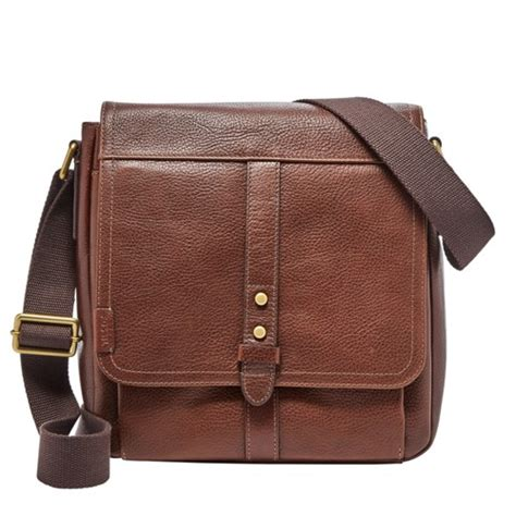 Fossil Leather Brown brown leather bag fossil