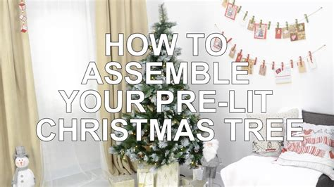 how to assemble your pre lit christmas tree youtube