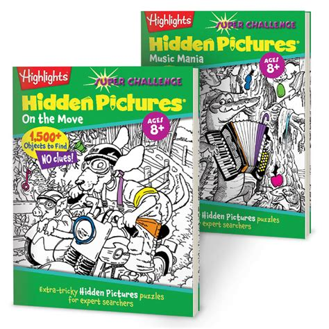 Highlights Pictures Puzzles Book 2 pictures 174 challenge 2 book set highlights