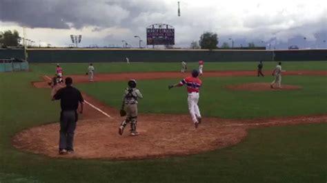 baseball bat flip swing watch high school baseball player hits walk off grand