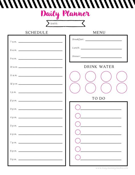 printable day planner software free printable daily planner
