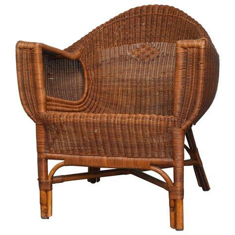 rattan armchairs italian vintage rattan armchair at 1stdibs